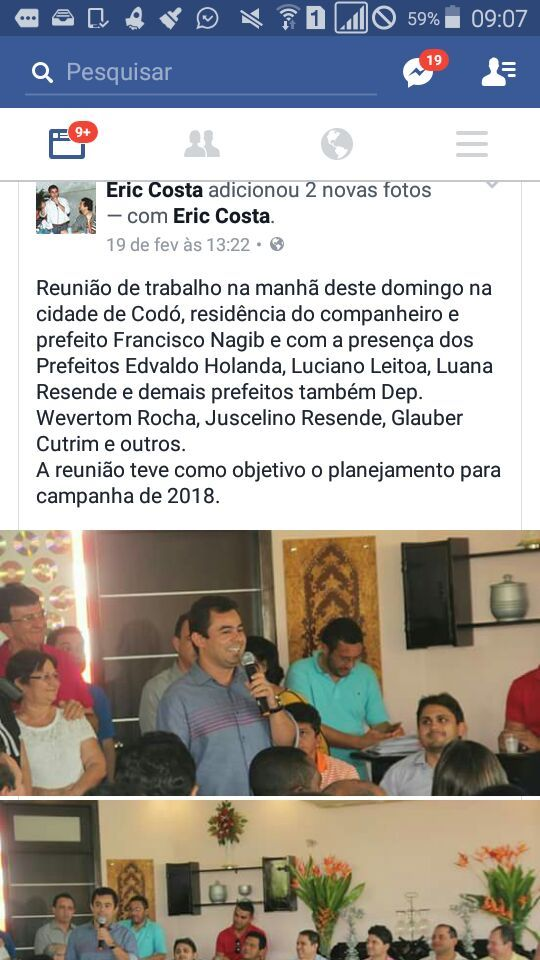 """16864295 1750701391819020 161187181538927987 n 1 - Eric deixa""""seus afazeres""""em Barra do Corda, e vai a Codó fazer pré-campanha política - minuto barra"""