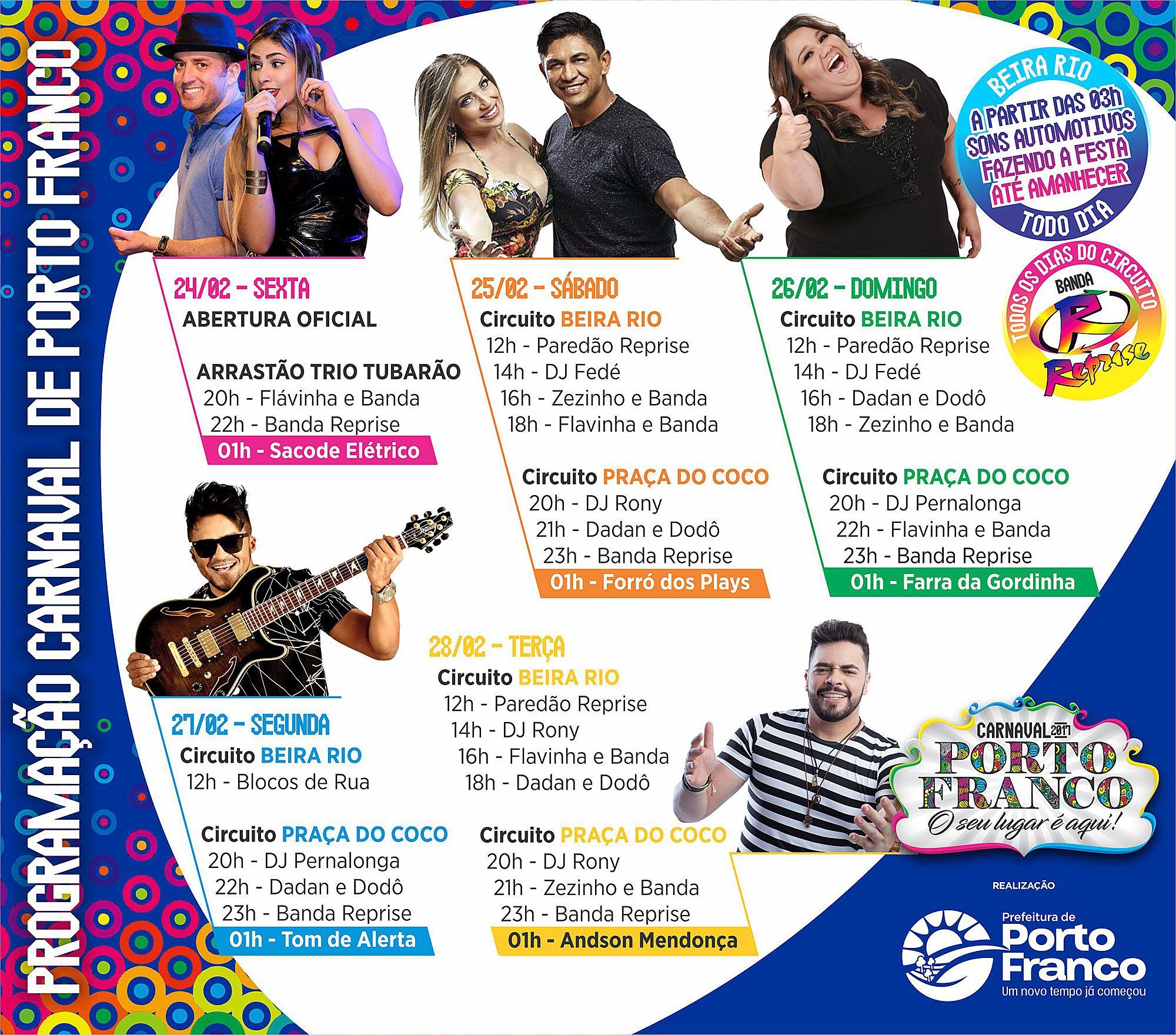 programacao completa - Carnaval em Porto Franco, promete ser o maior do Maranhão neste final de semana - minuto barra