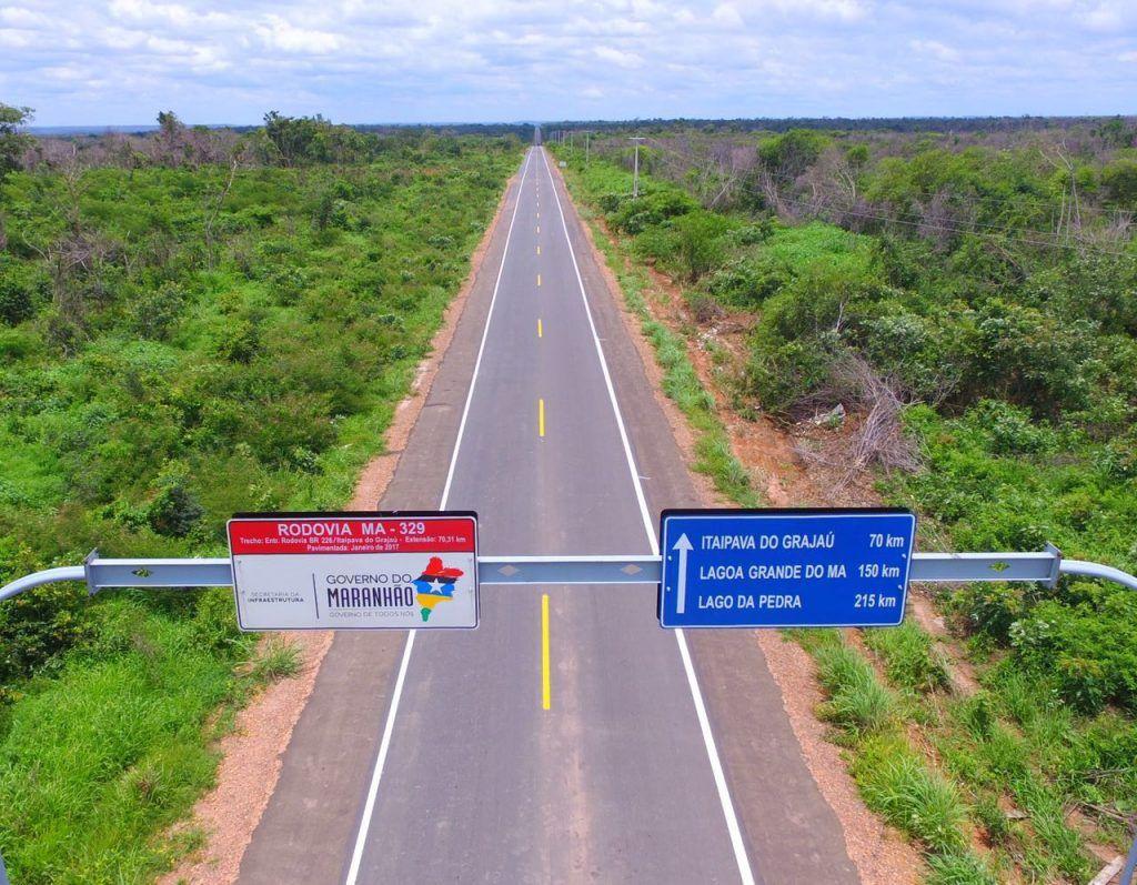 1 1024x797 - Flávio Dino vai a Itaipava inaugurar estrada que Roseana mandou asfaltar - minuto barra