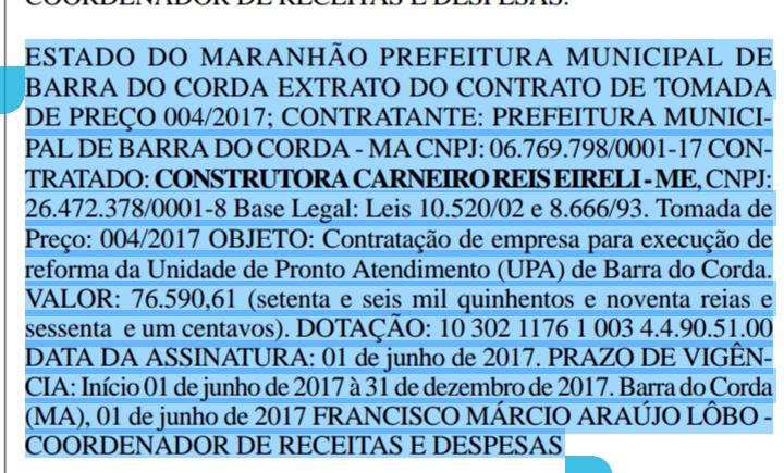 20170622 151415 - UPA: Pregão e contrato da licitação para reforma foram publicados - minuto barra
