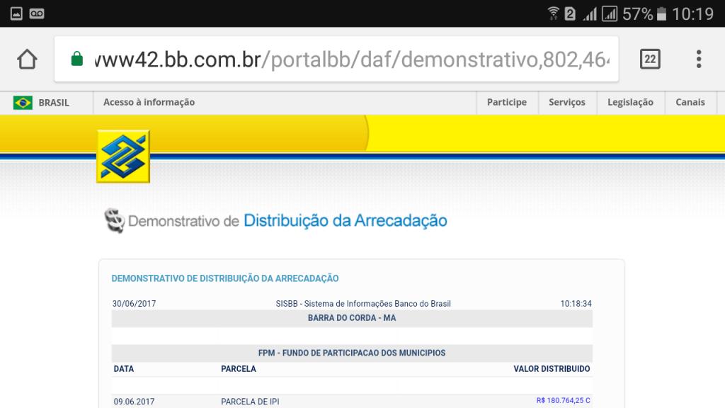 Screenshot 20170630 101906 1024x576 - Prefeito Eric Costa recebeu quase 9 milhões de reais em Junho - minuto barra