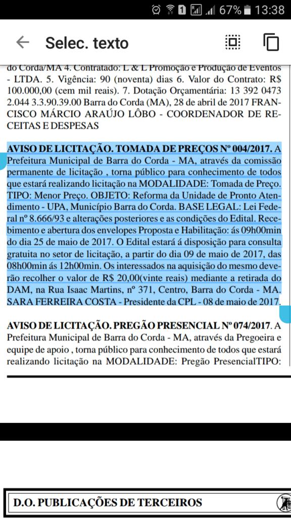 received 10209623526811656 1 576x1024 - UPA: Pregão e contrato da licitação para reforma foram publicados - minuto barra