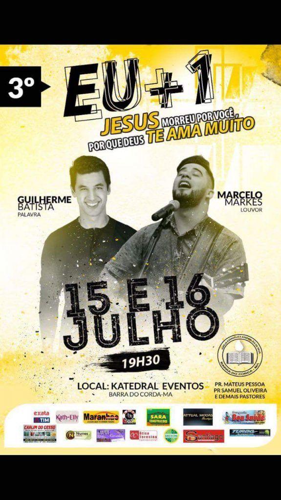 received 1448768768547525 575x1024 - VEM AÍ!!! Evento evangélico EU+1 em Barra do Corda - minuto barra