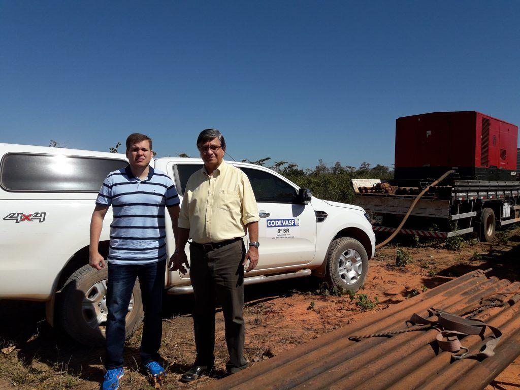 20170826 093350 1024x768 - BARRA DO CORDA: Superintendente da Codevasf fiscaliza perfuração do poço em Lagoa da Floresta - minuto barra