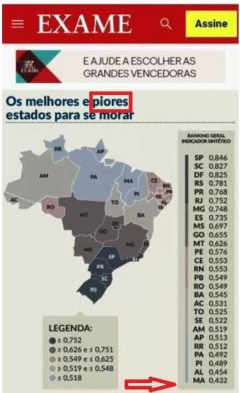 IMG 20170915 WA0002 - EITA FLÁVIO DINO!!! Estudo diz que Maranhão é o pior estado para se morar desde 2015 - minuto barra