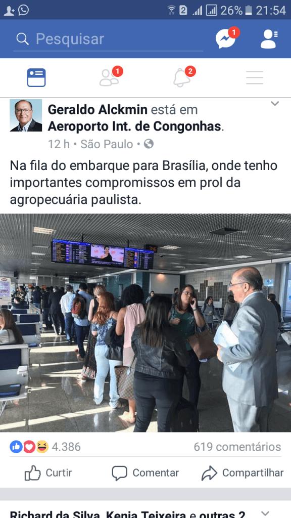 Screenshot 20170912 215401 576x1024 - Flávio Dino aluga jatinhos para viajar, enquanto Geraldo Alckmin usa avião de carreira - minuto barra