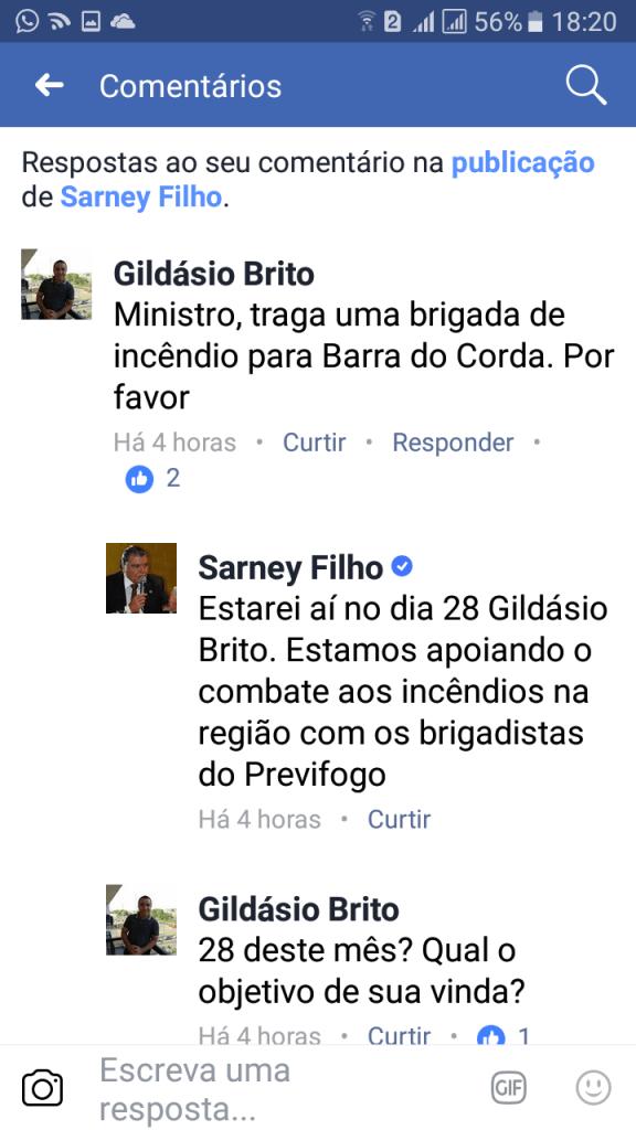 Screenshot 20170925 182002 576x1024 - AGENDA: Ministro Sarney Filho estará em Barra do Corda na quinta-feira - minuto barra