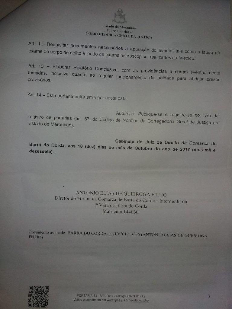 """20171011 181446 e1507758440299 768x1024 - Dr Queiroga determina inspeção extraordinária na delegacia de Barra do Corda, após empresário ser colocado em um """"gaiolão"""" e morreu - minuto barra"""