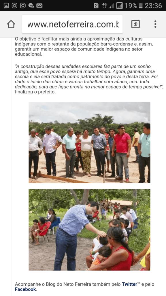 """Screenshot 20171020 233647 576x1024 - Flávio Dino falta com a verdade, ao afirmar que escola inaugurada em Barra do Corda, pertence ao programa """"Escola Digna"""" - minuto barra"""