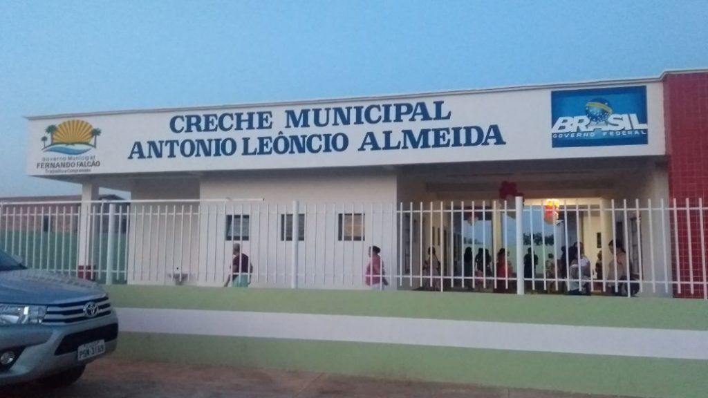 FOTO 01 FAXADA DA CRECHE INAUGURADA 1024x576 - Hildo Rocha participa de inauguração de creche em Fernando Falcão, e assina liberação de recursos para construção de estádio - minuto barra