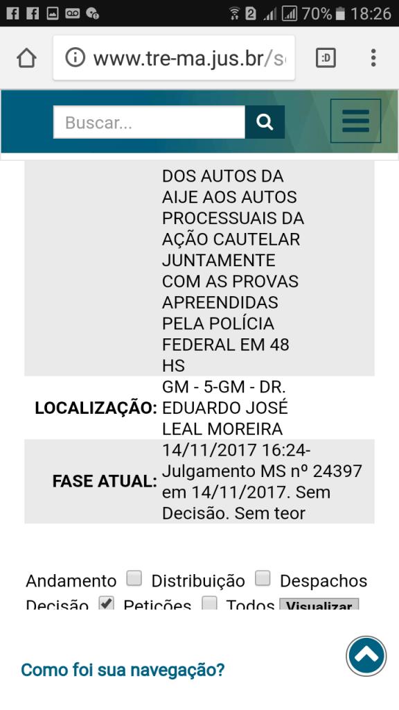 Screenshot 20171114 182652 576x1024 - Processo no TRE do caso Eric Costa/ Regina do Gás, é retirado de pauta - minuto barra