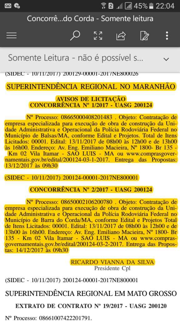 Screenshot 20171114 220424 576x1024 - CONFIRMADO!! Posto da Polícia Rodoviária Federal será construído nos próximos meses em Barra do Corda - minuto barra