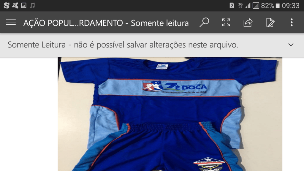 Screenshot 20171130 093337 1024x576 - Zé Doca: Ação Popular, pede na justiça, que a prefeita seja punida por confeccionar uniformes com as cores do seu partido - minuto barra
