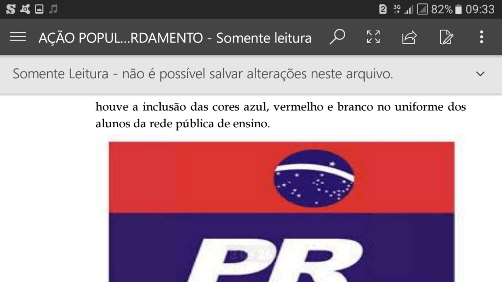 Screenshot 20171130 093346 1024x576 - Zé Doca: Ação Popular, pede na justiça, que a prefeita seja punida por confeccionar uniformes com as cores do seu partido - minuto barra
