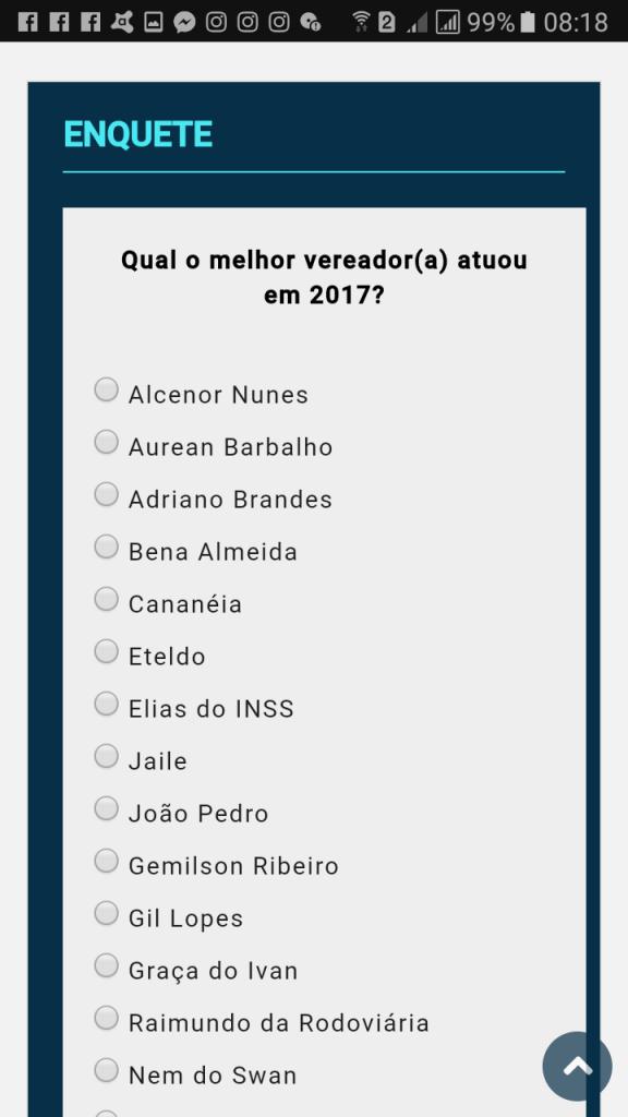 Screenshot 20171216 081807 576x1024 - ENQUETE: Blog Minuto Barra quer saber, qual vereador teve melhor atuação em 2017, acesse o site - minuto barra