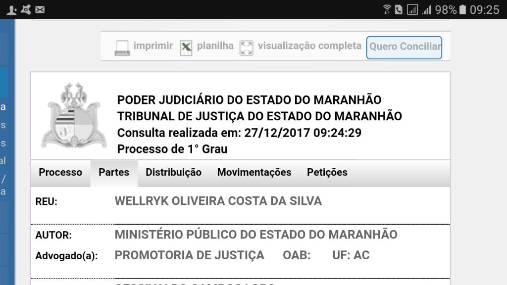 Screenshot 20171227 092520 1024x576 - IMPROBIDADE: Prefeito Eric Costa, corre risco de perder o mandato em Barra do Corda e vice pode assumir - minuto barra