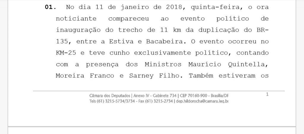 """IMG 20180118 WA0044 1024x454 - URGENTE!! Hildo Rocha oferece ao MP """"Notícia de Fato"""" contra Duarte Júnior do Procon - minuto barra"""
