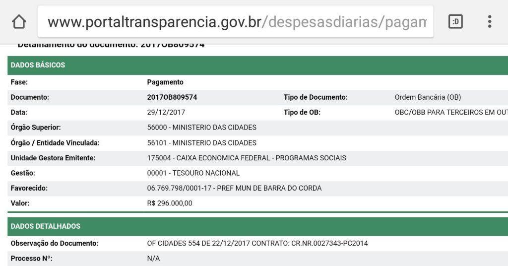IMG 20180129 WA0039 1024x536 - Hildo Rocha consegue liberar convênio de quase 600 mil reais para Barra do Corda - minuto barra