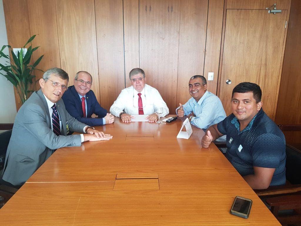 Audiência com Ministro Carlos Marum 31 01 2018 1024x768 - Hildo Rocha defende linha de crédito especial para mototaxistas - minuto barra