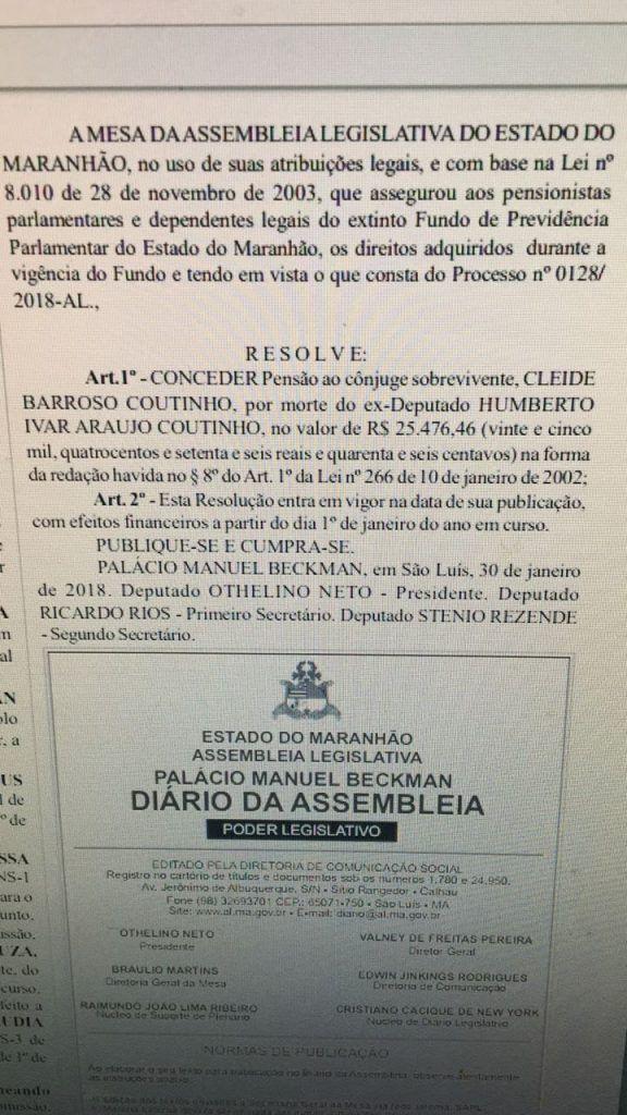 IMG 20180219 WA0058 576x1024 - EITA MARANHÃO!!! Esposa de Humberto Coutinho, receberá pensão mensal de quase 26 mil reais - minuto barra