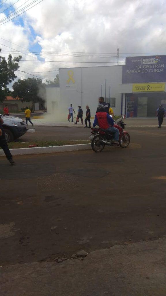IMG 20180517 WA0041 576x1024 - URGENTE!! Incêndio no prédio da Ciretran de Barra do Corda, inaugurada há menos de um mês por Flávio Dino - minuto barra