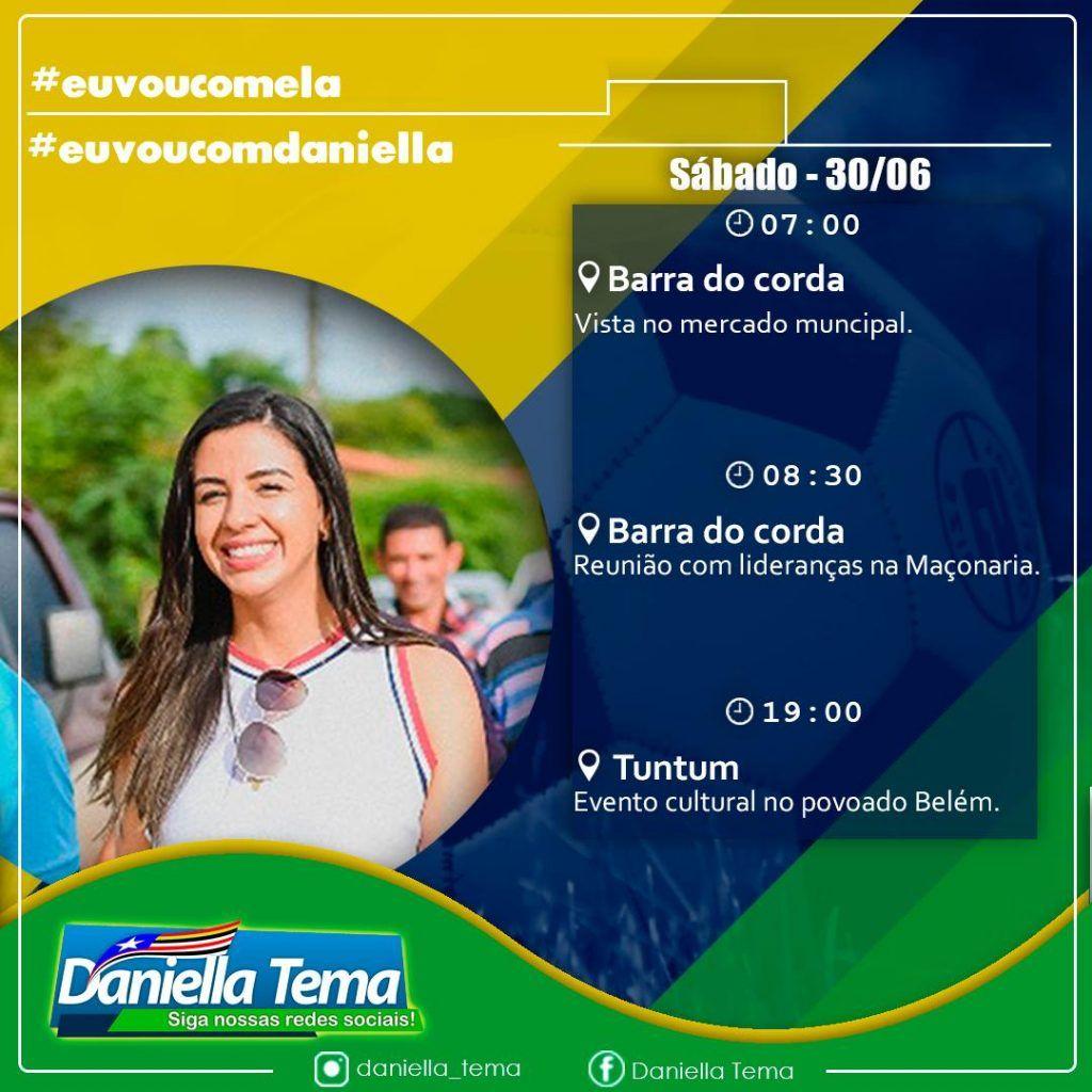 IMG 20180629 WA0085 1024x1024 - Lideranças de Barra do Corda recepcionam Daniela Tema neste sábado - minuto barra