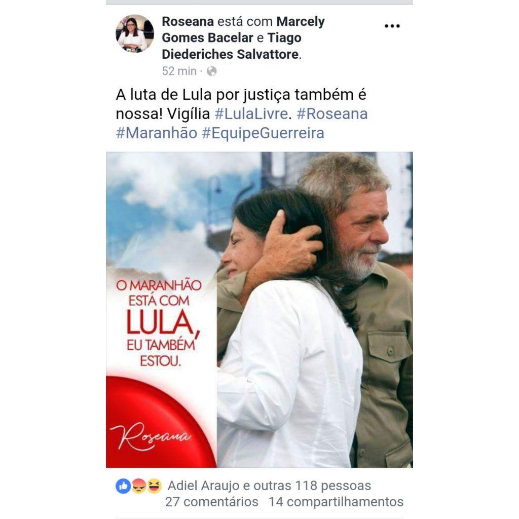 """InShot 20180628 132655305 1024x1024 - """"A luta de Lula por justiça também é nossa"""" afirma Roseana - minuto barra"""