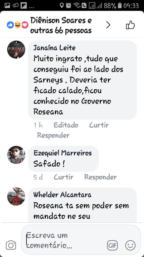 Screenshot 20180607 093328 576x1024 - Gastão Vieira é chamado de ingrato e covarde quando tentou desqualificar o grupo Sarney - minuto barra