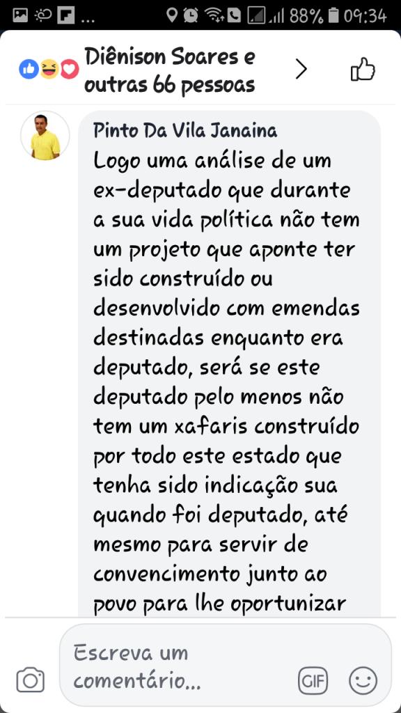 Screenshot 20180607 093440 576x1024 - Gastão Vieira é chamado de ingrato e covarde quando tentou desqualificar o grupo Sarney - minuto barra