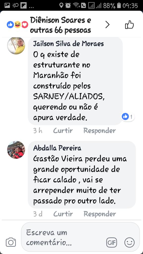 Screenshot 20180607 093513 576x1024 - Gastão Vieira é chamado de ingrato e covarde quando tentou desqualificar o grupo Sarney - minuto barra
