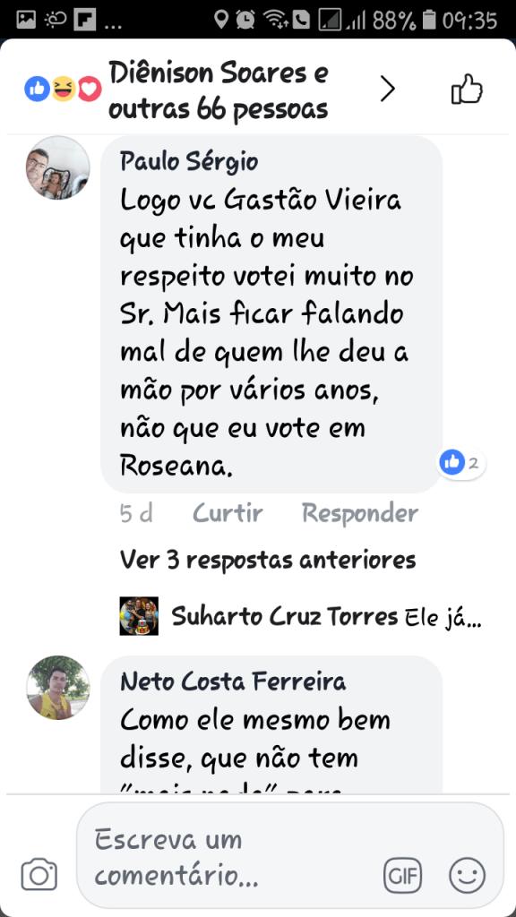Screenshot 20180607 093547 1 576x1024 - Gastão Vieira é chamado de ingrato e covarde quando tentou desqualificar o grupo Sarney - minuto barra