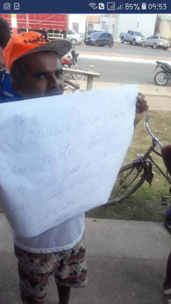 Screenshot 20180613 095306 576x1024 - COMOVENTE: Morador de São João dos Patos recebe Flávio Dino com cartaz e deixa governador zangado - minuto barra