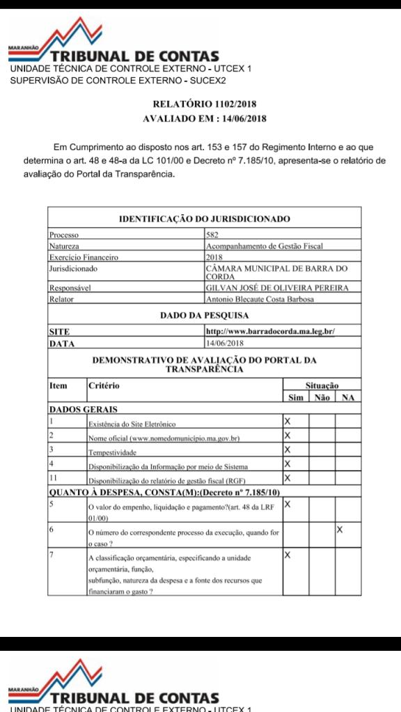 Screenshot 20180620 074342 576x1024 - TCE afirma que gestão de Gil Lopes na Câmara de Barra do Corda é transparente - minuto barra
