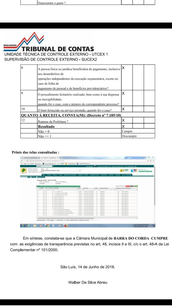 Screenshot 20180620 074357 576x1024 - TCE afirma que gestão de Gil Lopes na Câmara de Barra do Corda é transparente - minuto barra