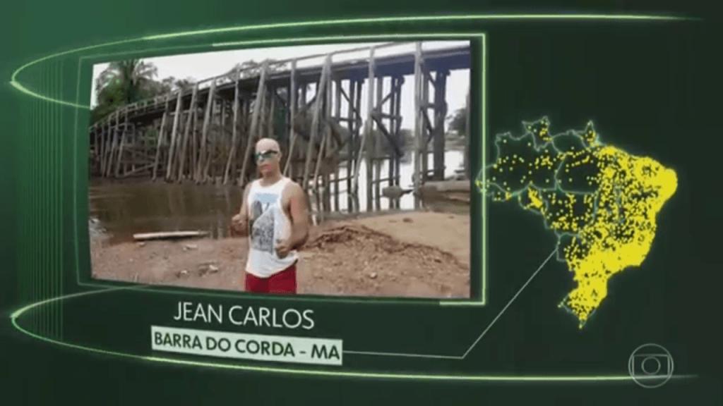 """Screenshot 20180623 161056 1024x576 - Na Tela da Globo: Jean Carlos representa Barra do Corda no quadro """"O Brasil que eu quero para o futuro"""" - minuto barra"""