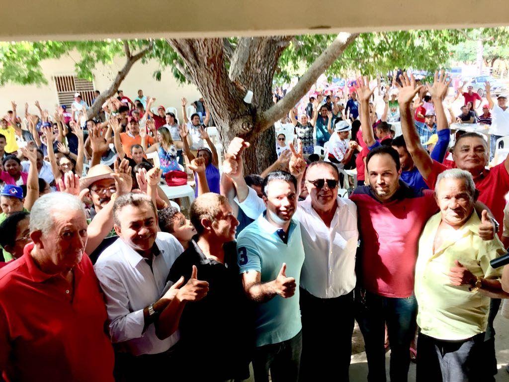 IMG 20180708 WA0044 1024x768 - Avelar Sampaio mostra liderança ao receber Edilázio e Antonio Pereira em Barra do Corda - minuto barra