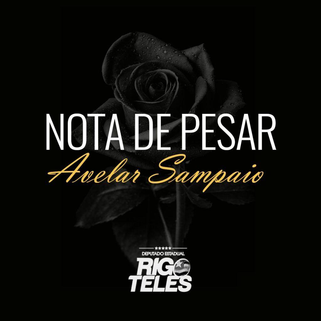 IMG 20180710 WA0099 1024x1024 - Deputado Rigo Teles lamenta morte do ex-prefeito Avelar Sampaio - minuto barra