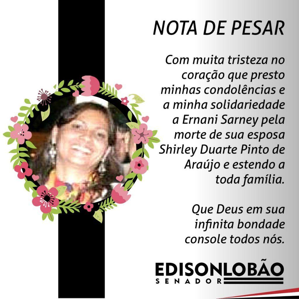 PHOTO 2018 07 13 17 00 091 1024x1024 - Senador Lobão lamenta morte de Shirley Duarte, cunhada do ex-presidente José Sarney - minuto barra