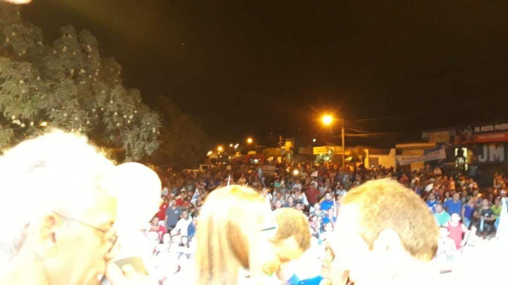 IMG 20180901 WA0141 1024x576 - Roseana é recebida por uma multidão na cidade de Chapadinha - minuto barra