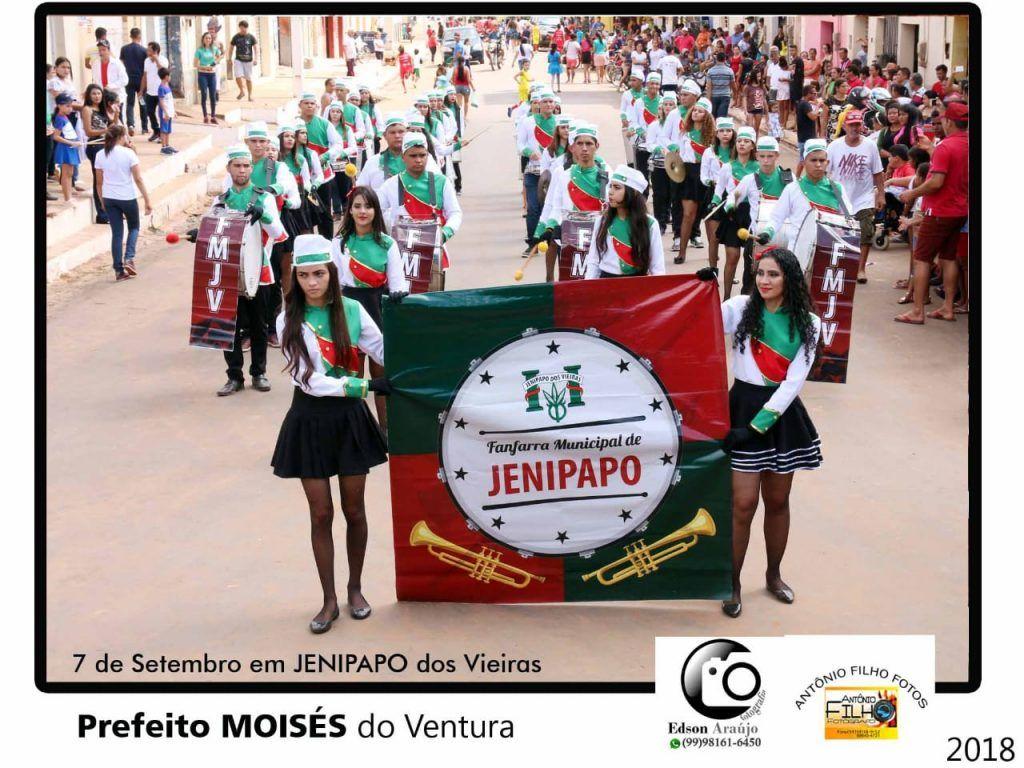 IMG 20180907 WA0048 1024x768 - Prefeito Moisés Ventura prestigia desfile do 7 de setembro em Jenipapo dos Vieiras - minuto barra