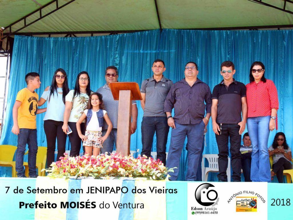 IMG 20180907 WA0049 1024x768 - Prefeito Moisés Ventura prestigia desfile do 7 de setembro em Jenipapo dos Vieiras - minuto barra