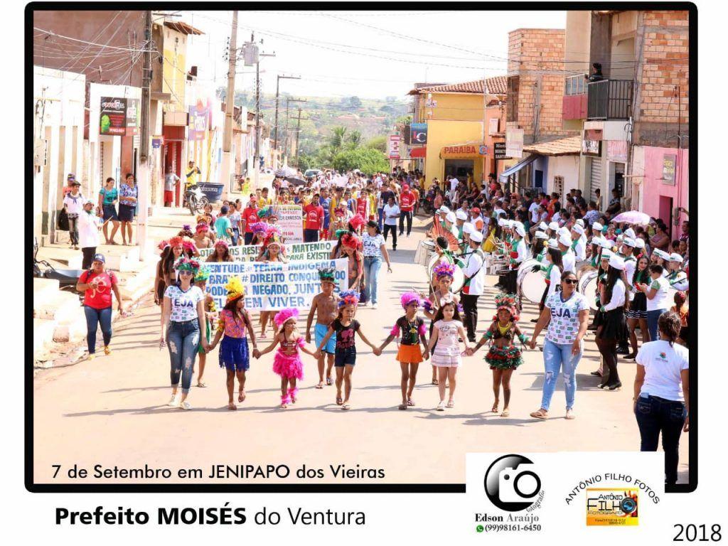 IMG 20180907 WA0050 1024x768 - Prefeito Moisés Ventura prestigia desfile do 7 de setembro em Jenipapo dos Vieiras - minuto barra