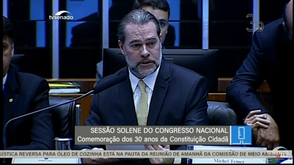 """Screenshot 20181106 103656 1024x576 - 30 anos da Constituição: """"A nação brasileira deve muito a transição democrática ao presidente José Sarney"""" afirma presidente do STF - minuto barra"""