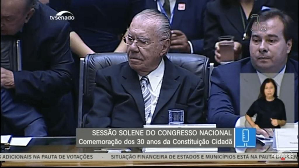 """Screenshot 20181106 110157 1024x576 - 30 anos da Constituição: """"A nação brasileira deve muito a transição democrática ao presidente José Sarney"""" afirma presidente do STF - minuto barra"""