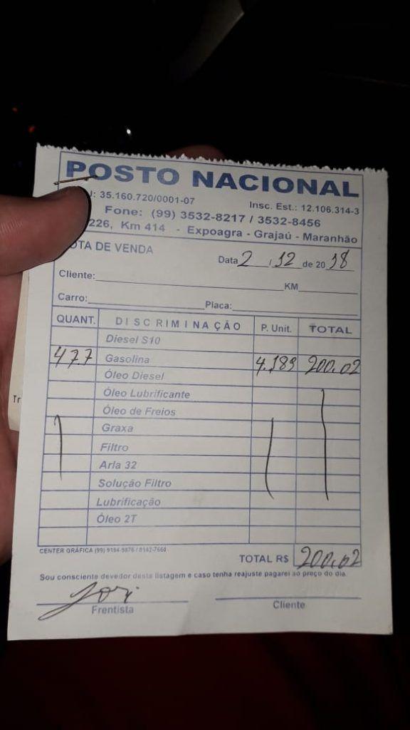 IMG 20181202 WA0094 576x1024 - R$ 4,18 é o valor do litro de gasolina em Grajaú, já em Barra do Corda o litro custa quase R$4,80 - minuto barra