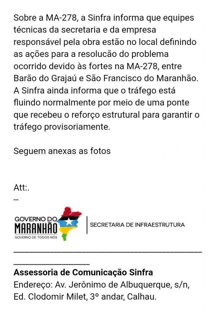 IMG 20181205 WA0130 697x1024 - Governo do estado envia nota ao Blog Minuto Barra após matéria sobre rompimento de estrada - minuto barra