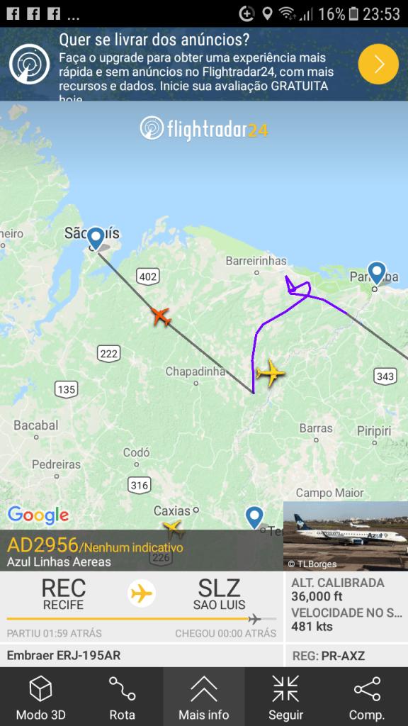 Screenshot 20181205 235316 576x1024 - Devido baixa visibilidade, dois aviões não conseguem pousar no aeroporto de São Luís - minuto barra