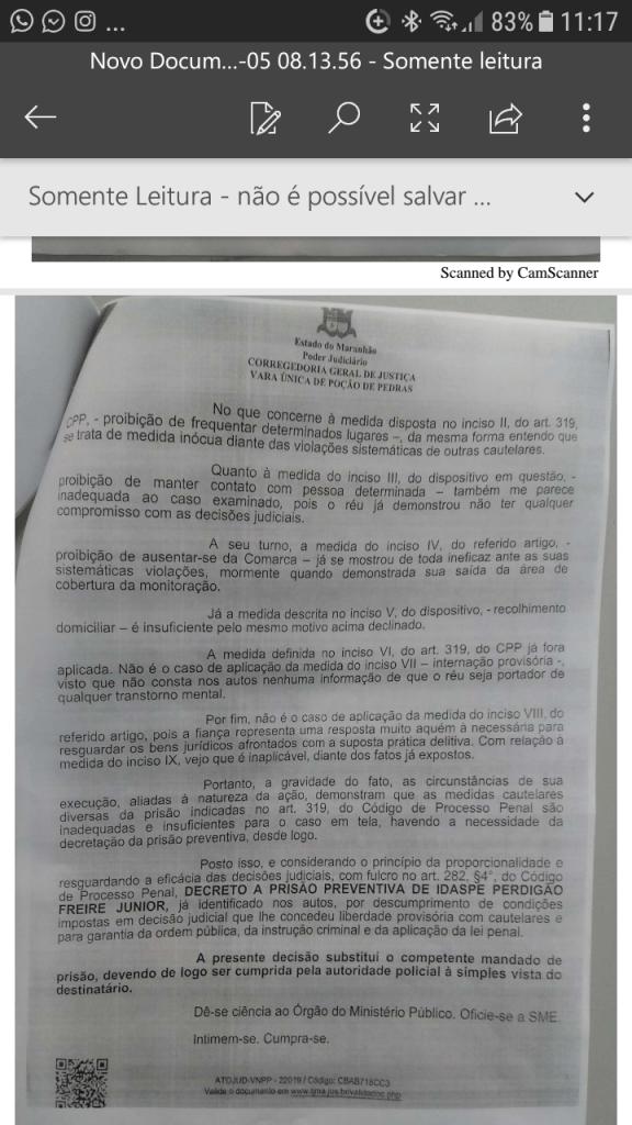 Screenshot 20190105 111737 576x1024 - URGENTE!! Justiça volta a decretar a prisão do delegado Perdigão por descumprir regras - minuto barra