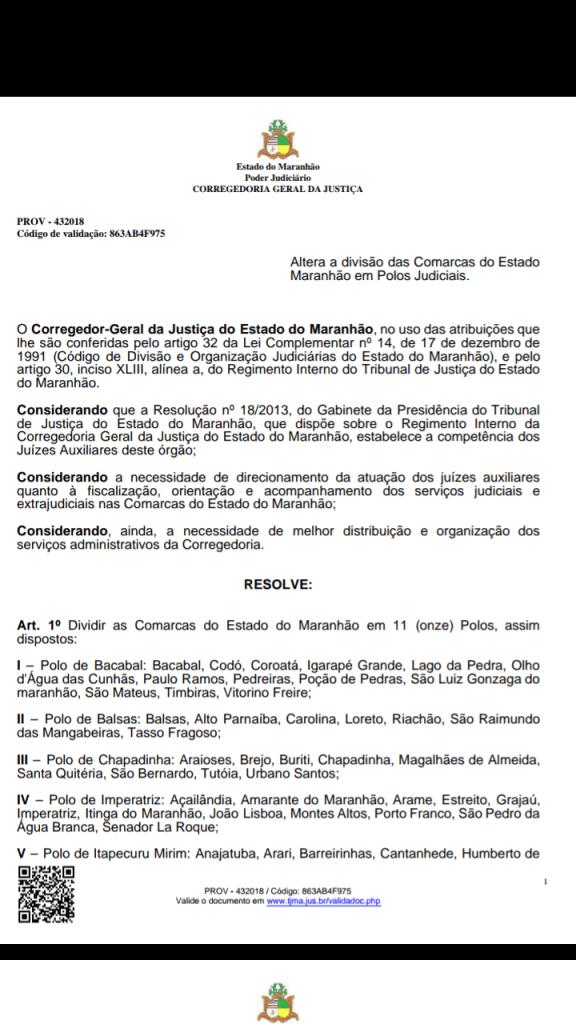 Screenshot 20190109 115742 576x1024 - TJ/MA transforma Barra do Corda em sede de polo judicial que comandará 11 cidades - minuto barra