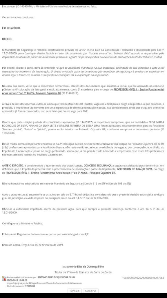 Screenshot 20190212 091908 576x1024 - Juiz manda prefeitura de Barra do Corda empossar candidato execedente do concurso em vaga no Povoado Cajazeira - minuto barra
